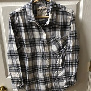 Long sleeve flannel shirt by Garage. M